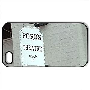 Ford's Theatre Sign - Case Cover for iPhone 4 and 4s (Watercolor style, Black)