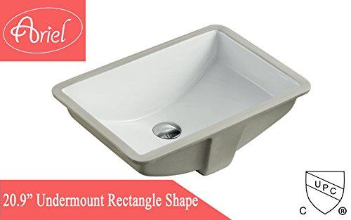 Undermount White Ceramic Sink - 5