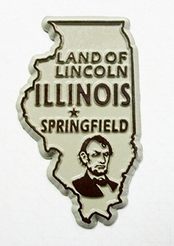 Illinois The Land of Lincoln United States Fridge Magnet (Illinois Magnet Fridge)