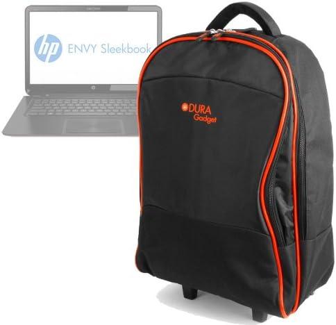Duragadget Sac trolley /à roulettes pour HP Envy 6 Sleekbook Samsung 355V5C et ATIV Book 4 ordinateur portable multiples poches de rangement Lenovo G500S