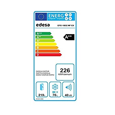 Edesa   Frigorífico No frost   Modelo: EFC-1832 NF EX ...