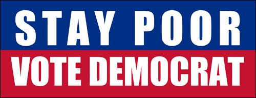 Stickers Anti Republican - American Vinyl Stay Poor Vote Democrat Bumper Sticker (GOP Republican Anti)