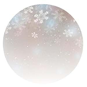 alfombrilla de ratón Resumen fondo de Navidad con copos de nieve - ronda - 20cm
