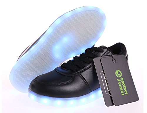 Colors Light Colorful Men Unisex Women Another Charging Shoes Luminous USB Leisure amp; Black 7 Summer LED Sneakers Flat Glowing Ew8YExXqO7