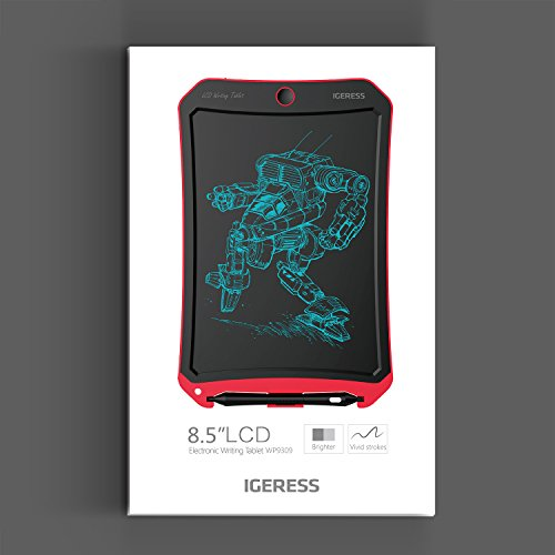 IGERESS Newest 8.5-inch LCD Writing Tablet with Cool Robot Element Design Electronic Writing Board for Kids and Adults Happy Drawing and Working Saving Papers by IGERESS (Image #4)