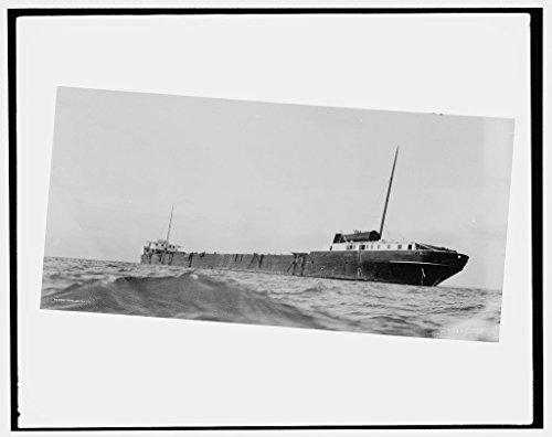 24 x 20 Art Canvas Print of S.S. M.W. i.e. Howard M. Hanna on reef (near Pt. Austin light Lake Huron) 1913 Detriot Publishing co. 47a