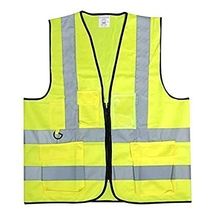 Yellow Hi Vis Vest High Viz Visibility Safety Waistcoat Multi Pack Or Single