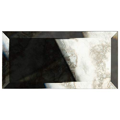 SomerTile WSDLSBAM ECLAT Beveled Antique Mirror Glass Wall Tile, 3
