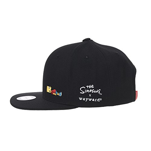 WITHMOONS The Simpsons Baseball Cap Bart Simpson Lying Down Snapback Hat  HL2965 9d9719f3cac7