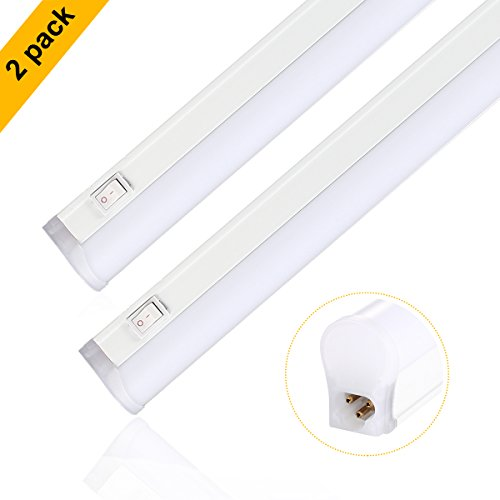 S&G LED Under Cabinet light Bar T5 Integrated Single Fixture Linkable Led Light Tube Ultra Slim 17.8 inches 3000K 1040 LM Great for Kitchen Counter Lighting