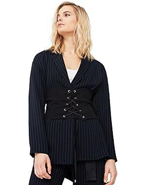 Mango Women's Pinstripe Suit Blazer