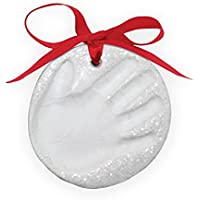 outDOOR MasH Baby Handprint Marshmallow Clay Baby Handprint or Footprint First Christmas Ornament Kit