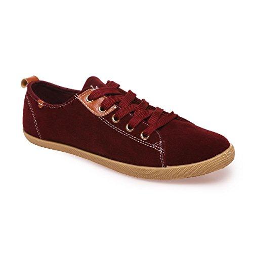 La Modeuse - Zapatillas de deporte para mujer Rojo