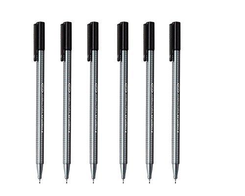 Staedtler Triplus Fineliner 0.3mm - Pack of Six (6 Black) (1, 6 ()