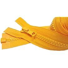 Sale 30 Inch Sport Separating Zipper Color 507 Orange Yellow - Medium Weight Vislon Jacket YKK #5 Molded Plastic (1 Zipper/pack)