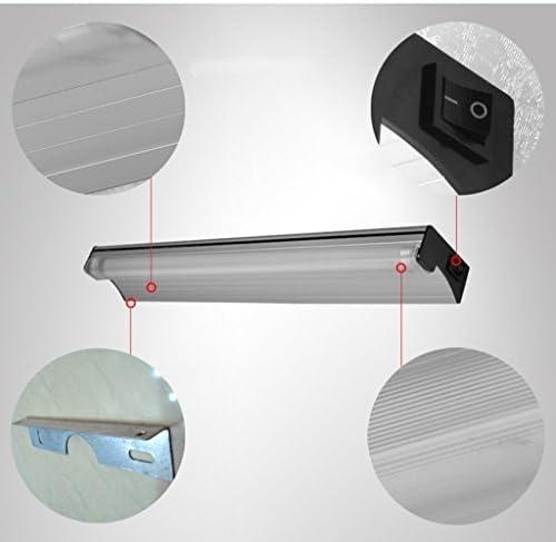 . LED-Spiegel-Licht, moderne minimalistische Badezimmer-Badezimmer-Spiegel-Lampen-Verfassungs-Licht-Leuchtstoffröhre mit Schalter (Color : Warm light)