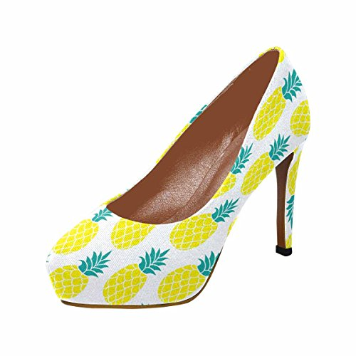 High InterestPrint Platform Womens Heel Pumps Womens Pineapple Fashion InterestPrint Classic XOSgqd