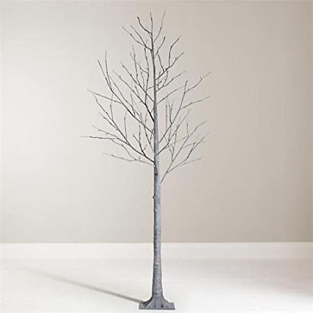Lumineo Pre-Lit Shabby Chic Deco Grey Chalk Twig Tree 240cm 8ft ...