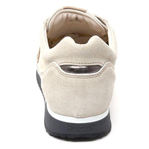 B4906 sneaker uomo HOGAN H198 scarpa sportiva beige shoe man Beige