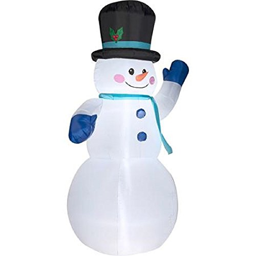 CHRISTMAS 10 FT TALL INFLATABLE WAVING SNOWMAN WITH TOPHAT by (Tall Hat Snowman)
