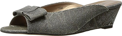 Shoes Womens Size AA Bligh Platinum 12 VANELi N Wedge Open Toe Slides Sandals dgF0xzqn1