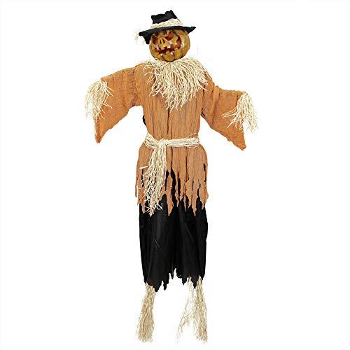 Northlight 6' Pre-Lit and Animated Jack-o'-Lantern Scarecrow Halloween Decoration -