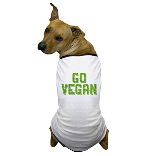 CafePress - Go Vegan - Dog T-Shirt, Pet Clothing, Funny Dog Costume ()