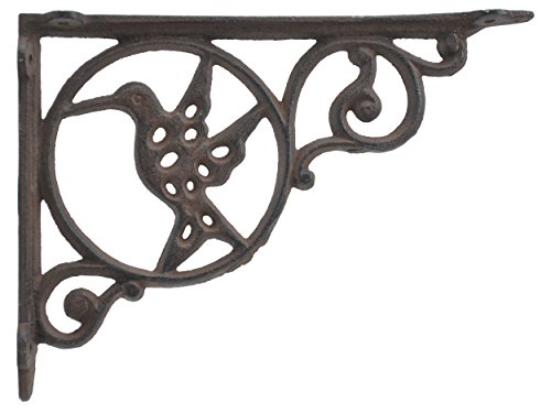 - Import Wholesales Wall Shelf Bracket Hummingbird In Circle Cast Iron 8.75