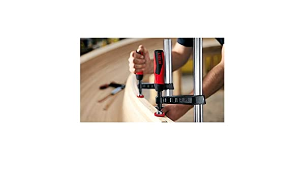 Bessey TG20B8 Screw Clamp Tg 7.87In//3.15In of Cast-IRON Black//Red//Silver