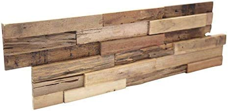 Plaquette De Parement Bois Recycle Ultrawood Teak Colorado Amazon Fr Bricolage