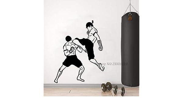 supmsds Artes Marciales Kickboxing Tatuajes de Pared Pegatinas de ...