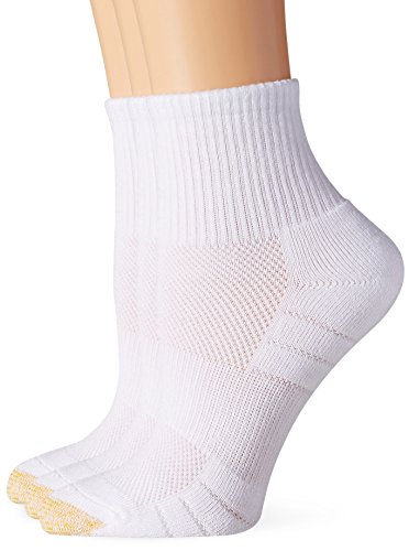 Gold Toe Women's Aquafx Zone Quarter Athletic Sock, White, 9-11 (Pack of (Gold Quarter Socks)