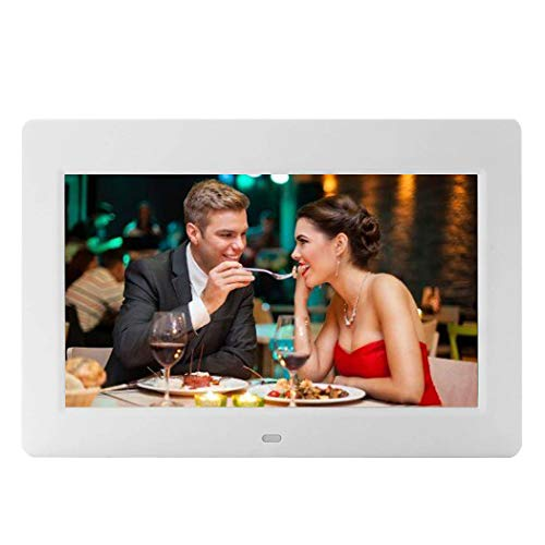 - 10-Inch Digital Picture Photo Frame with High Resolution Widescreen LCD, MP3 Music,Photo Video Player,Clock Function, Calendar and Remote Control, White