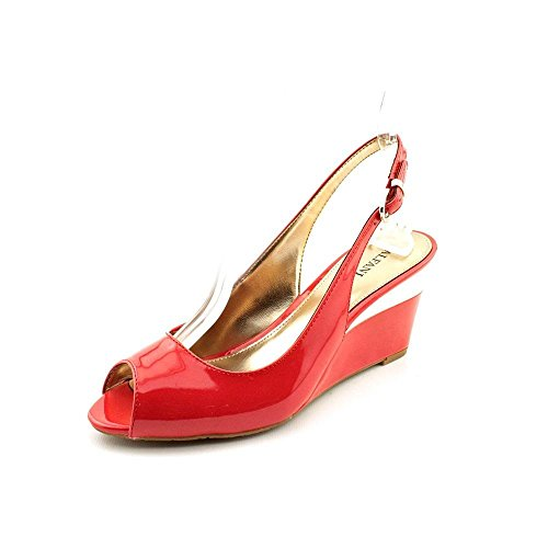 Alfani Bess Womens Size 7.5 Red Oxfords Wedge Sandals Shoes