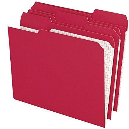 Pendaflex R15213RED Pendaflex 2-Ply, Reinforced, File Folders, 1/3 Cut, Top Tab, Ltr, Red, 100/Box 2-Pack