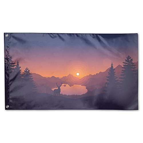 Colby Keats Natural Mountain Lake Garden Lawn Flags Indoor Outdoor Decoration Home Banner Polyester Sports Fan Flags 3 X 5 Foot