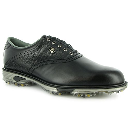 FootJoy 2013 DryJoys Tour Saddle Golf Shoes Black-Black Lizard 9 Narrow 53676