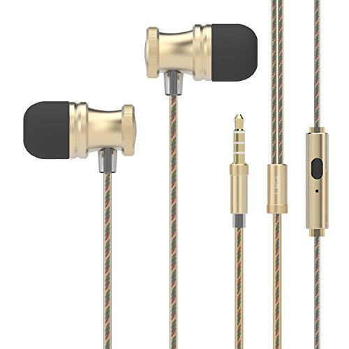 Uiisii US80 in Ear Headphones Sport Earbuds with Mic Stereo Bass 3.5mm Jack for Apple iOS and Android Smartphones...
