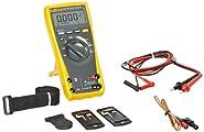 Fluke 179/TPAK True RMS Digital Multimeter with TPAK Meter Hanging Kit, 50 Megaohm Resistance, 1000V AC/DC Voltage, 10A AC/DC Current