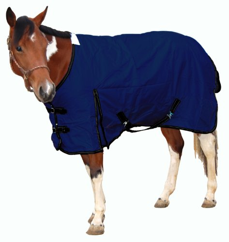 Royal Hamilton WB-600D-NV-XS Turnout Horse Blanket Navy Blue with Black Trim, 72-Inch, Extra Small by Royal Hamilton