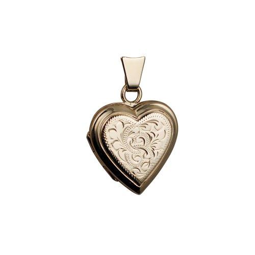 Pendentif 17x17mm en or Jaune 375/1000 en forme de coeur
