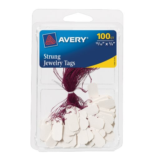 (Avery Jewelry Tags, 0.8125 x 0.375 Inches, Pack of 100 (6731))