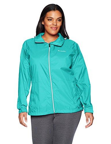 Columbia Women's Plus Size Switchback III Jacket, Miami, 3X (Waterproof Jacket Nylon)