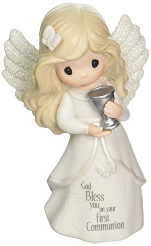 Precious Moments Communion Angel Bisque Porcelain Figurine 163051 -
