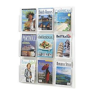 Safco Reveal 9 Pocket Clear Magazine Display (Magazine Safco Clear Reveal)