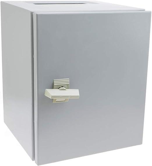 BeMatik - Caja de distribución eléctrica metálica con protección IP65 para fijación a Pared 300x250x250mm: Amazon.es: Electrónica