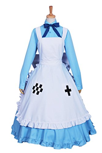 Nyotalia Cosplay Costumes (CosplayNow Hetalia United Kingdom UK Cosplay Costume Dress Blue XL)