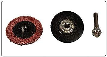 Plato de Lija │ 5 pieza │ /Ø 50 mm │ para m/áquinas de perforaci/ón │ con soporte M14 │ incluyendo mandril de sujeci/ón │ Plato Adhesivo │ Placa de Papel de Lija │ Plato de Pulido │Coj/ín de espuma