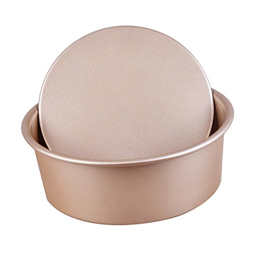 Fityle Pan Bakeware Round Cake Pan Nonstick & Quick Release Coating 6'' 8''10'' - Gold, (10' Cheesecake)