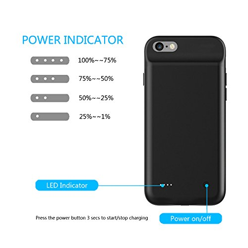 For iphone 7 Battery Case, NENG 3000mAh Portable Cover Charger Power Bank Smart Charging Case Extended Battery for iphone 7 4.7 inch Wireless Charging Protective by NENG (Image #3)